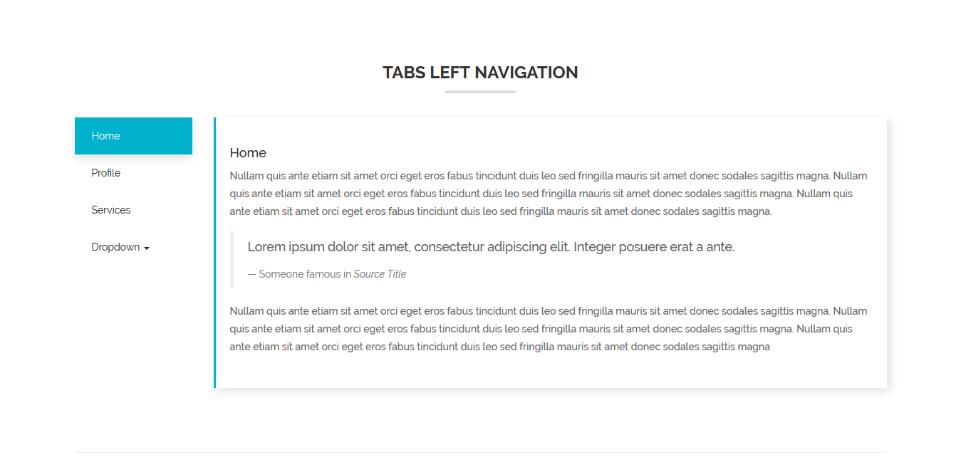 iTabs Responsive Bootstrap Tabs | Multiple Colored Examples
